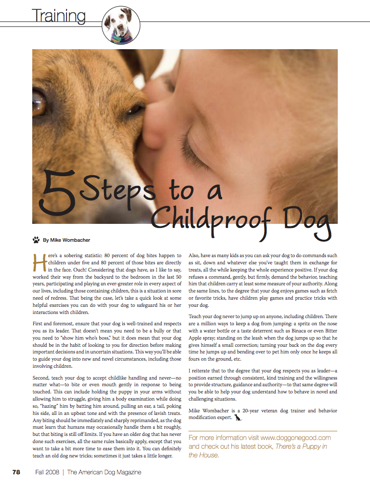 american dog magazine articles